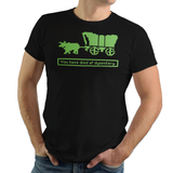 Oregon Invaders - Video Game Pixel T-Shirts & Retro Gaming Tees! Dysentery , Oregon Trail, Hunt, Ox, Wagon, 1971, PC, Original, Learning Game, History Lesson, Travel, Banker, Pixel, Sprite, Old School, Fort, America, Indian, Gold Rush, West, Men, Women, Kids, Clothes, Tees