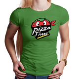 Pizza Time - Retro and Pixel Video Game T-shirts - TMNT, Ninja Turtles, Michelangelo, Mikey, Pizza, Leonardo, Donatello, Raphael, Shredder, Teenage Mutant, Pizza Time!, NES, SNES, Arcade, TMNT2, Turltes In Time, Cowabunga, Daletheskater, Videogame, Games, Gamer, Best, Women, Men, T-Shirt, Tee, Slim Fit, Tank Top, Long Sleeve
