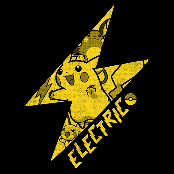Shop like a gamer. PixelRetro is your best destination for Video Game T-Shirts for Men and Women. Unisex Tee with a great fit. Pikachu from Pokemon on a Black or Navy Blue T-Shirt. Pika, Electricity Symbol from Pokemon Eve, Blue, Red with a unique look. Gotta catch them all! On a game tee. Online shop only. Soft, durable and high quality cotton. Art By Nemons.