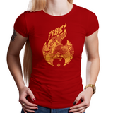 PixelRetro is your best destination for Video Game T-Shirts for Women. Charizard from Pokemon on a Red Fit, Women's Fitted T-Shirt. Fire Type from Nintendo for Game Boy a unique look. Gotta Catch Them All. Online shop only. Soft, durable and high quality cotton. Art By Nemons.