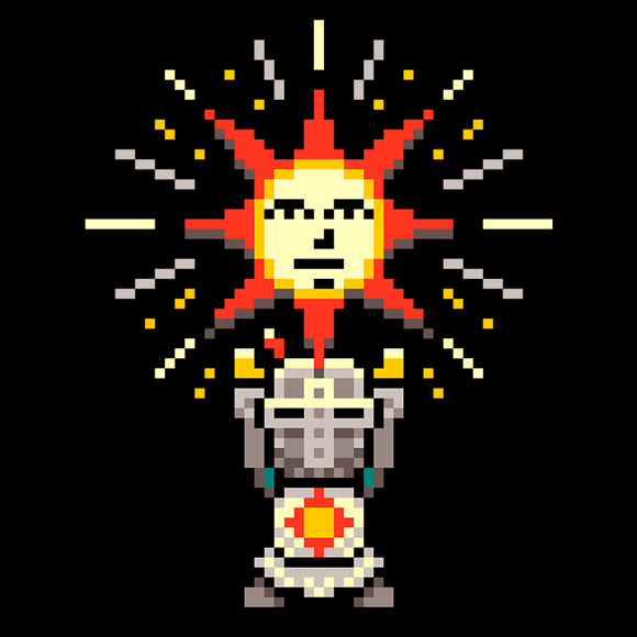 Praise the Sun - Retro and Pixel Video Game T-shirts - Retro, Pixel, 8-Bit, Megaman, Mashup One Punch Man, Nes, Anime, Japanese, Japan, Arcade, Parody, Wanpanman, Cartoon, Press Start, Nintendo, Classic, nerd, Geek, Typhoonic, Men, Women, Kids, TankRetro, Dark Souls, Dark Souls 2, Praise The Sun, Art, Bloodborne, Demon Souls, RPG, Action, Bonfire, PS4, PC, Xbox, Solaire, Geek, Nerd, Knight, Japan, Japanese, Pixel, Retro, Typhoonic