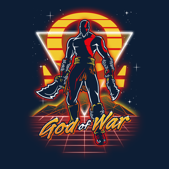 Retro War God - Video Game Pixel T-Shirts & Retro Gaming Tees! GOW, Kratos, Greek Mythology, Norse, God, Thor, Medusa, God of War, Zeus, Poseidon, Athena, Hera, Apollo, Artemis, Aphrodite, Helios, Hermes, Morpheus, Thanatos, Atlas, Retro, Olipop, Women, Men, Kids, Cotton, Tank, Long Sleeved, Shirt