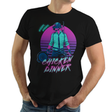Retro Winner - Retro and Pixel Video Game T-shirts - Retro, 80s, Retro Wave, PUBG, BR, Battle Royale, Shooter, FPS, Winner Chicken Dinner, Frying Pan, PC, Xbox, PS4, PlayersUnkown Battlegrounds, Last Man Standing, PVP, Multiplayer, Gun, T-Shirt, Tee, Tank, Long Sleeved, Men, Women, Kids, DDJVIGO,