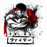 Shop like a gamer. PixelRetro is your best destination for Video Game T-Shirts for Men and Women. Unisex Tee with a great fit. Ryu from Street Fighter on a White T-Shirt. Ink Design with a unique look, that covers SF2, Fighting。