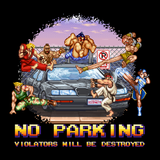 No Parking - Video Game Pixel T-Shirts & Retro Gaming Tees! Gamer, Street Fighter II, No Parking, Violator, Ken, Ryu, Sagat, Chun Li, Car, Destroy, Capcom, Fighting, Fighter, SNES, Arcade, Cammy, M Bison, Guile, Blanka, 1991, 1990s, Kari LikeLikes, Women, Men, Kids, Cotton, Tank, Long Sleeved, Shirt