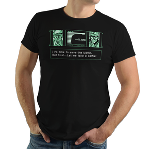 Codec Selfie - Retro and Pixel Video Game T-shirts - Retro, PS1, Playstation, MGS, Metal Gear Solid, Solid Snake, Big Boss, Shadow Moses, Stealth, Action, Ninja, Colonel, Code, Joke, Funny, Selfie, Photo, Picture, Revolver Ocelot, Ninja, Men, Women, Tank, Long Sleeve, Shirts