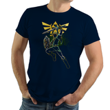 Shadow of Courage - Retro and Pixel Video Game T-shirts - Zelda, TLOZ, The Legend of Zelda, Link, Hyrule, Ganon, Master Sword, OOT, Majoras Mask, Breath of the Wild, SNES, Link to the Past, Ocarina of Time, Wind Waker, Epona, BOTW, Donnie, Women, Men, T-Shirt, Tee, Slim Fit, Tank Top, Long Sleeve