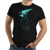 Shadow of Meteor - Retro and Pixel Video Game T-shirts - JRPG, RPG, Japan, Japanese, FF7, FF VII, PS1, Sword, 90s, 1990s, Nerd, Geek, Remake, Final Fantasy 7, 1997, Sephiroth, Vincent Valentine, Tifa, Aerith, Yuffie, Cloud Strife, Donnie, Women, Men, T-Shirt, Tee, Slim Fit, Tank Top, Long Sleeve