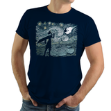 Starry Fantasy - Retro and Pixel Video Game T-shirts - Cloud Strife, FFVII, FF7, Final Fantasy VII, FF, RPG, Action, Nerd, Geek, Cloud, Level Up, Japan, Japanese, Square, Tifa, Aerith, Barret, Vincent, Yuffie, Zack, Sephiroth, Jenova, Chocobo, Tank, Long Sleeved, Summer, Shirt, Tee, TShirt, T-Shirt, Womens Fit, Tight