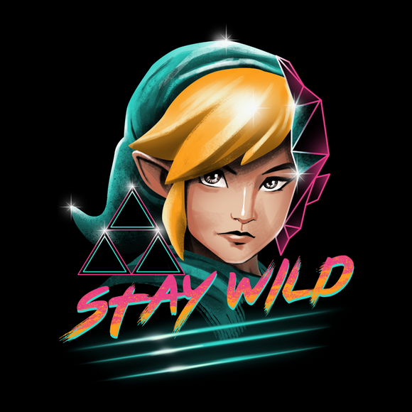 Stay Wild - Retro and Pixel Video Game T-shirts - Zelda, Legend of Zelda, TLOZ, Ganon, Hyrule, Princess Zelda, A Link to the Past, Ocarina of Time, The Wind Waker, Twilight Princess, Skyward Sword, BOTW, Breath of the Wild, SNES, NES, Nintendo, Switch, N64, Nintendo 64, Wild, Triforce, Retro Wave, Nerd, Gamer, Geek,