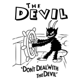 Steam Boat Devil - Retro and Pixel Video Game T-shirts - Retro, Vintage, Black and White, Cartoon, Cartoon Style, Cuphead, Devil, Don't Deal, Steam Boat, Shooter, Run and Gun, 1930s, Indie.