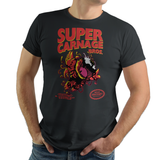 Super Carnage Bros - Retro and Pixel Video Game T-shirts - Nintendo, NES, Super Mario, Mario 3, Box Art, SMW, Super Mario World, Bowser, Gamer, Mario Bros, Mash Up, Villain, Carnage, Spider, Symboite, Comic Book, Alien, Host, Superheroes, Black, Men, Women, Kids, Tees, Clothes