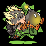 Super Junkrat - Retro and Pixel Video Game T-shirts - Overwatch, Xbox, Playstation, Shooter, Super Mario, Bomb