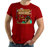 Super Mario Bros - Video Game Pixel T-Shirts & Retro Gaming Tees! Gamer, Nes, Nintendo, 80s, Pixel, 8-Bit, 1980s, Nerd, Geek, Super Mario, Metroid, SMB, Luigi, Bowser, Princess Peach, Toad, Mario1, 1UP, Koopa Troopa, 1985, King Koopa, Japanese, Kari, LikeLikes, Women, Men, Kids, Cotton, Tank, Long Sleeved, Shirt