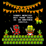 Super Mercio Bros - Retro and Pixel Video Game T-shirts -  Tank, Long Sleeved, Fit, Gamer, Mash Up, Cute, Adorable, 8-Bit, Mashup, Retro, Chimichanga, Taco, Superhero, Comic, Comic Book, Film, Movie, Pixel, SMB, 1980s, Super Mario Bros, Mario, Toad, NES, Mercio, Nintendo, Funny, Men, Women, Kids, Tees, Clothes