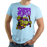PixelRetro is your best destination for Video Game T-Shirts for Men and Women. Unisex Tee with a great fit. Donnie, Donnatello from Ninja Turtles in his best SMB3 Mash up on a Light Blue T-Shirt. Smashed into a Box Art, Super Mario Bros 3 design with the TMNT Parody look. Part of a Cartoon, NES, Nintendo series for a unique look. Online shop only. Soft, durable and high quality cotton. Art By Punksthetic.