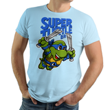 PixelRetro is your best destination for Video Game T-Shirts for Men and Women. Unisex Tee with a great fit. Leo, Leonardo from Ninja Turtles in his best SMB3 Mash up on a Light Blue T-Shirt. Smashed into a Box Art, Super Mario Bros 3 design with the TMNT Parody look. Part of a Cartoon, NES, Nintendo series for a unique look. Online shop only. Soft, durable and high quality cotton. Art By Punksthetic.