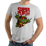 PixelRetro is your best destination for Video Game T-Shirts for Men and Women. Unisex Tee with a great fit. Raphael from Ninja Turtles in his best SMB3 Mash up on a Silver T-Shirt. Smashed into a Box Art, Super Mario Bros 3 design with the TMNT Parody look. Part of a Cartoon, NES, Nintendo series for a unique look. Online shop only. Soft, durable and high quality cotton. Art By Punksthetic.