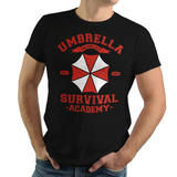 Survival Academy - Video Game Pixel T-Shirts & Retro Gaming Tees! RE, Resident Evil, Biohazard, Umbrella, Racoon City, Leon Kennedy, Jill Valentine, Zombie, Resident Evil 4, 7, 3, 2, Japan, Chris Redfield, Rebecca, Claire, Survival Horror, T-Virus, RPD, Women, Men, Kids, Tee
