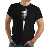 The Boss Father - Retro and Pixel Video Game T-shirts - MGS, Metal Gear Solid, Solid Snake, Big Boss, MGS 2, Espionage, Stealth, Ninja, Mash Up, Mashup, Film, Movie, Classic, The Godfather, Crime, Corleone, Tuxedo, Otacon, Ocelot, PS1, Crime, Men, Women, Kids, Tank