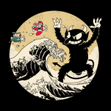 Great Retro Game Battle - Retro and Pixel Video Game T-shirts - Retro, Vintage, Black and White, Cartoon Style, Cuphead, Devil, Don't Deal, Shooter, Run and Gun, 1930s, Indie, Wave, Kanagawa