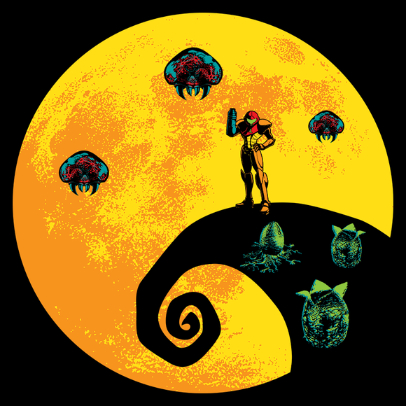 Parasites - Retro and Pixel Video Game T-shirts - Metroid, Samus Aran, Sci-Fi, SNES, Nintendo, NES, Bounty Hunter, Space, Mother Brain, Zebes, Prime, 4, Zero Suit, Nightmare Before Christmas, Alien, Parasites, Mashup, Daletheskater, Videogame, Games, Gamer, Best, Women, Men, T-Shirt, Tee, Slim Fit, Tank Top, Long Sleeve