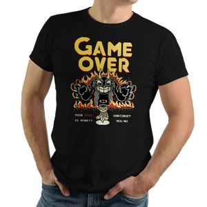 Your Soul is Mine - Video Game Pixel T-Shirts & Retro Gaming Tees! Cuphead, Game Over, Arcade, Insert Coin, Mugman, Don't Deal With the Devil, Run and Gun, Elder Kettle, Xbox One, Microsoft, Action, Devil, Devil's Casino, Inkwell Isles, D, Side Scroller, 1930s Cartoons, Typhoonic, Women, Men, Kids, Cotton, Tank, Long Sleeved, Shirt