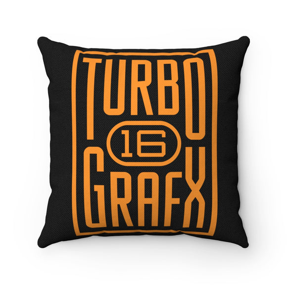 Turbo Grafx 16 Solid Orange Pillow