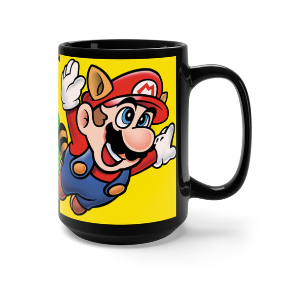 Super Mario 3 Black Mug 15oz