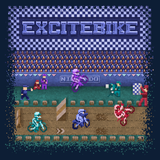Excitebike - Retro and Pixel Video Game T-shirts - NES, Nintendo, Nintendo Shirts, Pixel, 8-Bit, 80s, 1980s, Excitebike, Bike, Motorbike, Dirtbike, Racing Game, Racer, Championship, Arcade, Mario Kart, FZero, MK64, Excite Truck, LikeLikes, Videogame, Games, Gamer, Best, Women, Men, T-Shirt, Tee, Slim Fit, Tank Top, Long Sleeve