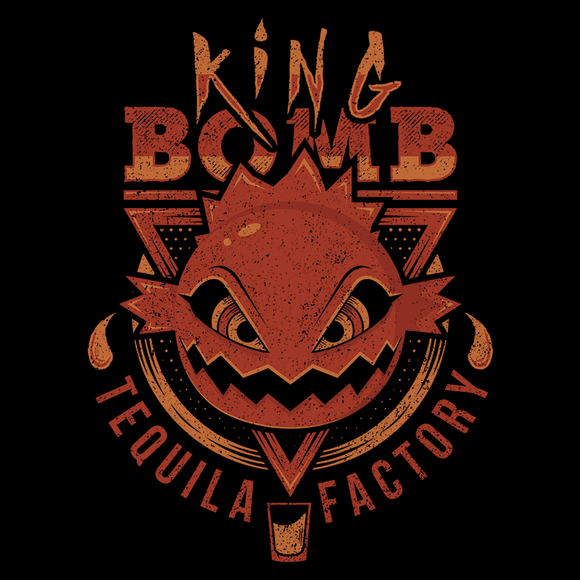 King Bomb Tequila - Retro and Pixel Video Game T-shirts - Cloud Strife, JRPG, RPG, Japan, Japanese, FF7, FF VII, PS1, 90s, 1990s, King Bomb Tequila, Remake, Final Fantasy 7, 1997, Sephiroth, Vincent Valentine, Tifa, Aerith, Yuffie, Alundrart, Videogame, Games, Gamer, Best, Women, Men, T-Shirt, Tee, Slim Fit, Tank Top, Long Sleeve