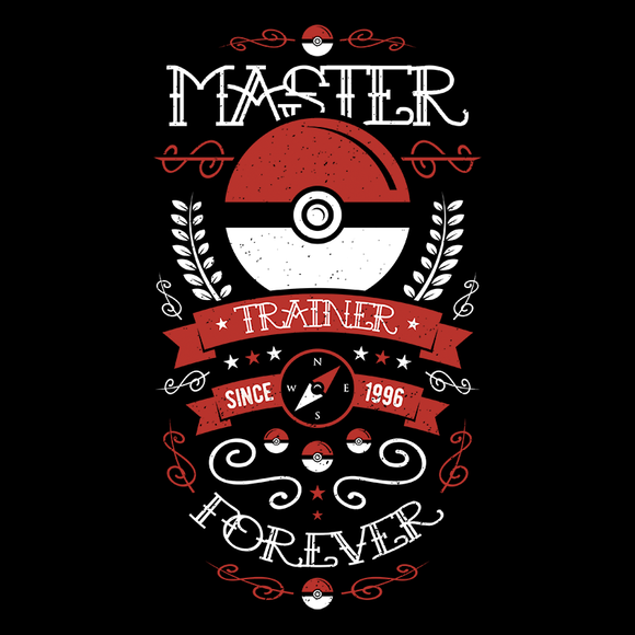 Master Trainer - Video Game Pixel T-Shirts & Retro Gaming Tees! Pokemon, Pikachu, Pika, Ash Ketchum, Game Boy, Fire, Handheld, Trainer, Training, Catch Em All, Red, Blue, Nintendo, Nintendo T-Shirts, Go, Switch, Nerd, Water, Fire, Grass, Alundrart, Men, Women, Tank Top, High Quality Clothes, Long Sleeved