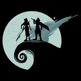 Nightmare Before Fantasy - Video Game Pixel T-Shirts & Retro Gaming Tees! Cloud Strife, JRPG, RPG, Japan, Japanese, FF7, FF VII, PS1, Soldier, 90s, 1990s, Nerd, Geek, Remake, Final Fantasy 7, 1997, Mash Up, Movie, Nightmare Before Christmas, Aerith, Alundrart, Men, Women, Tank Top, Tight Fit, Long Sleeve, Tee