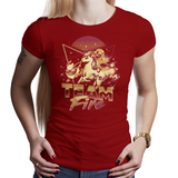 Shop like a gamer. PixelRetro is your best destination for Video Game T-Shirts for Women. Team Fire with Charmander, Ponyta, Flareon from Pokemon on a Navy Red Fit, Women's Fitted T-Shirt. Retro, 80s, Nintendo design with a Fire, fun look from Japan, Game Boy. Created with a unique, cute, adorable look. Online shop only. Soft, durable and high quality cotton. Art By Ilustrata.