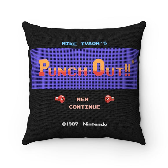 100% Polyester cover Double sided print Concealed zipper Polyester pillow included. Shop, Bed, Sofa, Couch, Room, Home, Art, Punch Out, PunchOut, Boxing, Box, Mike Tyson, Little Mac, Mario, NES, Nintendo, Pixel, 8-bit, Retro, Video Game, TKO, Bald Bull, King Hippo, Great Tiger, Glass Joe, Soda Popinski