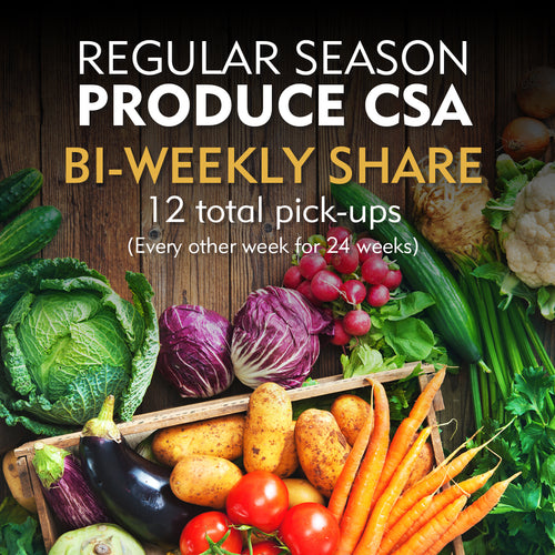 Regular Season Produce CSA - Bi-Weekly Share/Online Orders Available 1/1/20. Fill out a form and send it in to order before 1/1/20