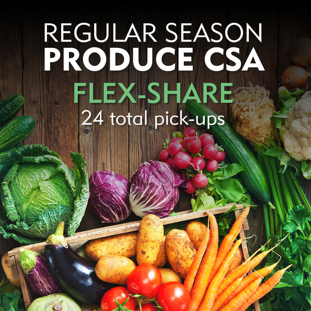 CSA Flex Share/Online Orders Available 1/1/20. Fill out a form and send it in to order before 1/1/20