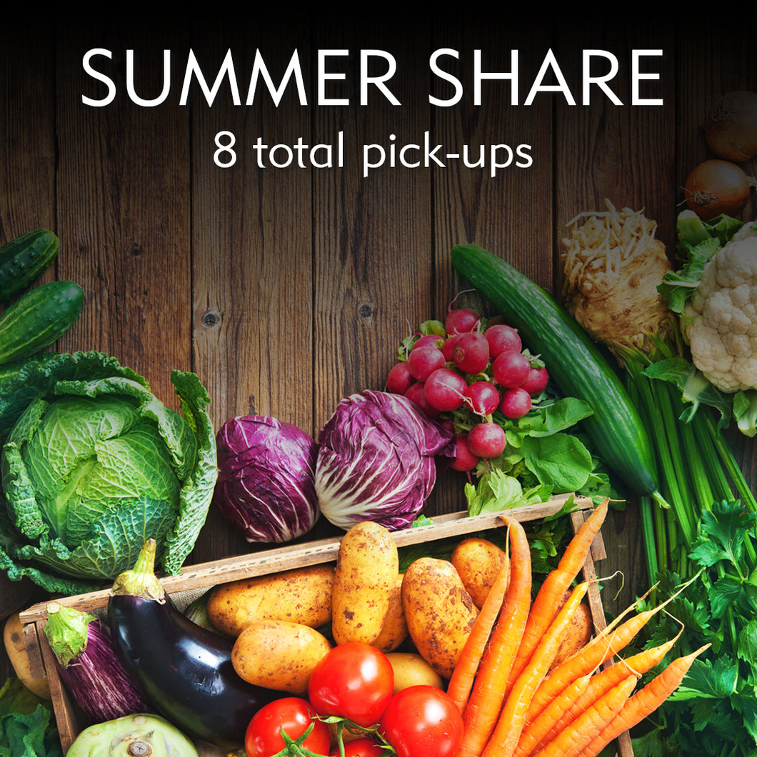 Summer Produce CSA Share/Online Orders Available 1/1/20. Fill out a form and send it in to order before 1/1/20