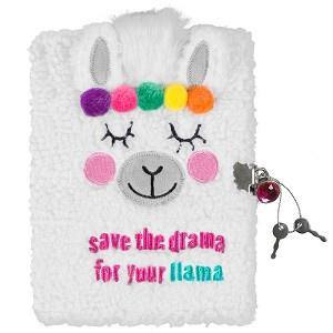 Drama Llama plush locking journal