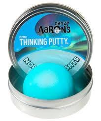 Crazy Aarons Thinking Putty Northern Ligjts