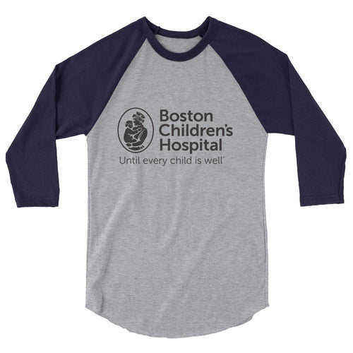 Baseball style shirt Boston Children's Hospital Logo