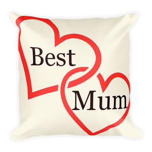 Square Pillow (mum's the word)