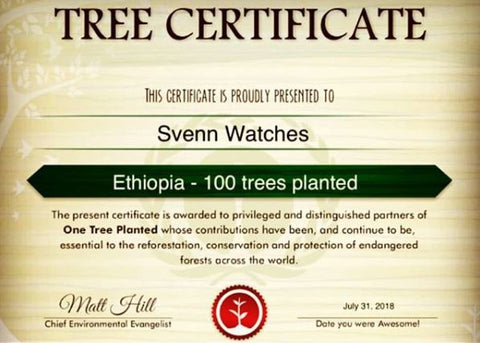 Svenn Wood Watch One Tree Planted Donation