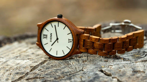 wood watch by Svenn - Pearl White
