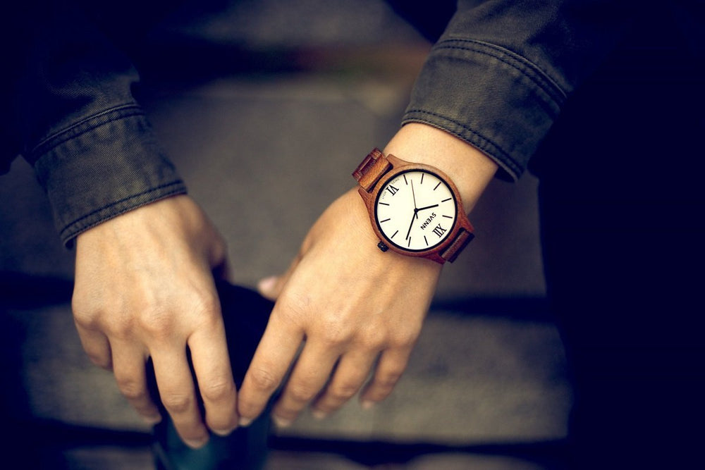 teak wooden watch