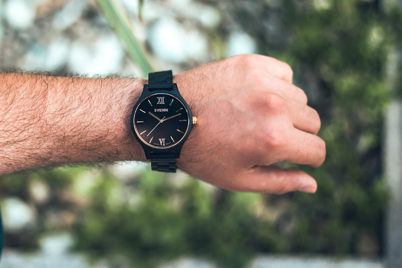 Black Wooden Watches