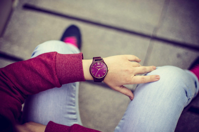 violet wood watch