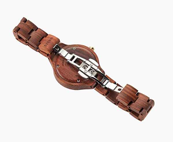 Emerald & Sandalwood <br> Wooden Watch - Svenn Watches