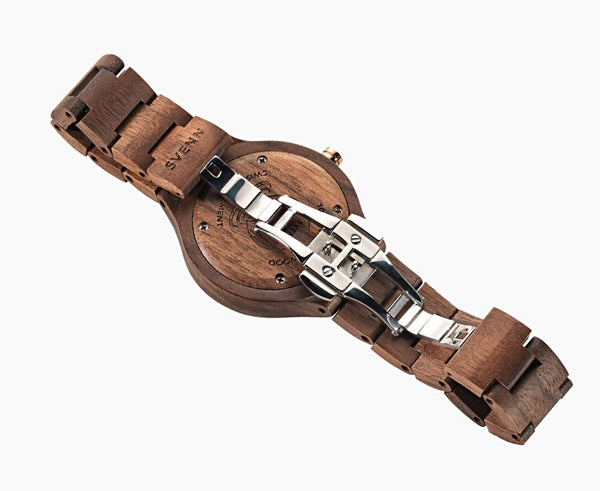 Sophisticated Wood Watch Backside