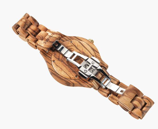 Svenn Wood Watch Atlas Vanilla Back